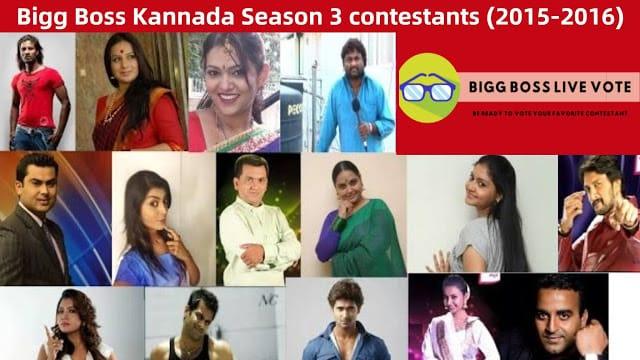 Bigg Boss Kannada Season 3 Contestants