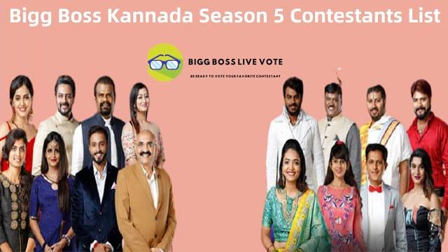 Bigg Boss Kannada Season 5 Contestants List