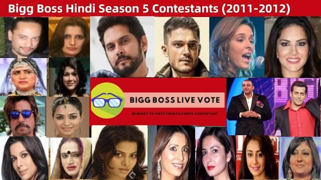 Bigg Boss Season 5 Hindi Contestants