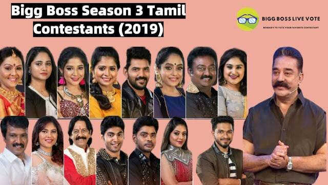 Bigg Boss 3 Tamil Contestants (2019)