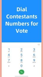 Dial Contestants Numbers for Vote